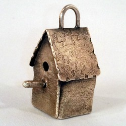 Birdhouse Pendant by Meredith Hilt (click to enlarge)