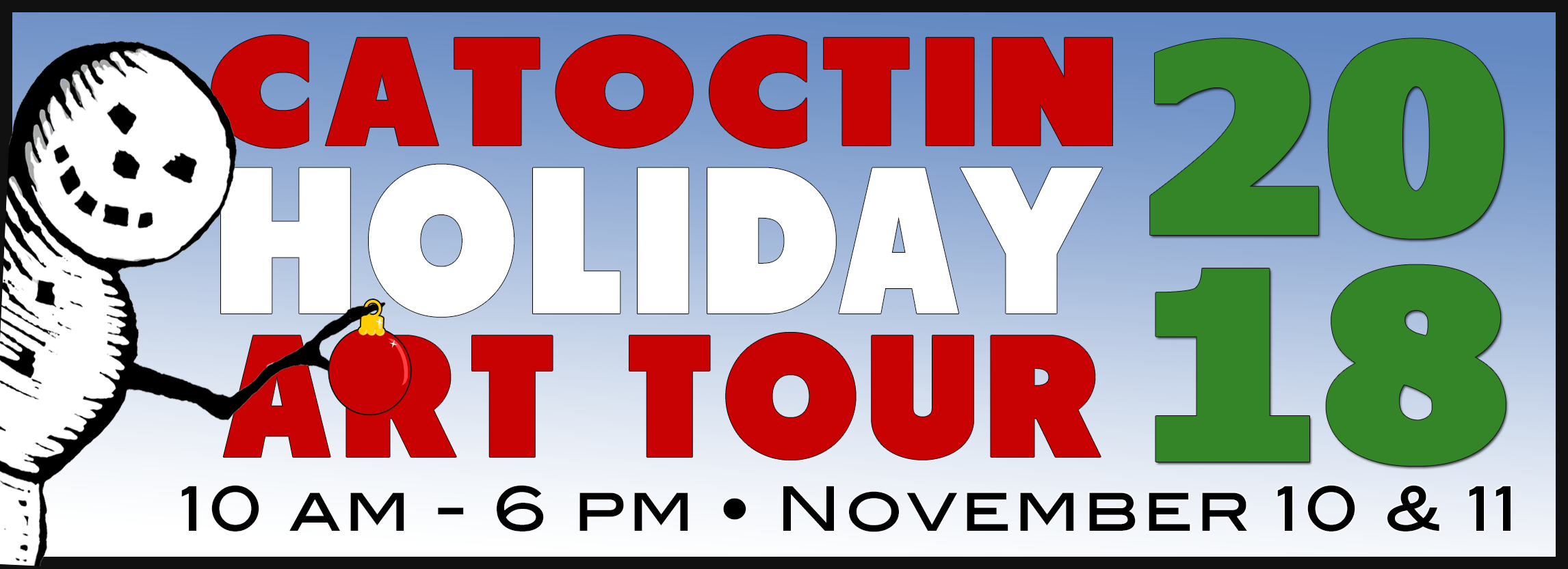Catoctin Holiday Art Tour - November 10-11, 2017 - 10am-6pm